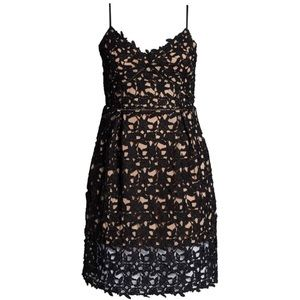 City Chic So Fancy Crochet Fit & Flare Lace Dress